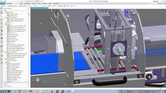 Dank der Simulation wichtiger Funktionen wie Druckmarkenkorrektur für bedruckte Folien noch vor der realen Inbetriebnahme lassen sich kostspielige Fehler vermeiden