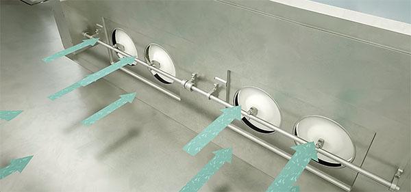 Rückluftfilter für aseptisch-hochpotente Isolatoranwendungen filtern die Abluft und unterbinden damit die Verschleppung hochpotenter Aerosole.
