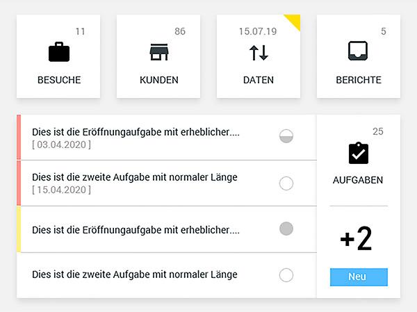 Digitale, mobile Außendienstlösung