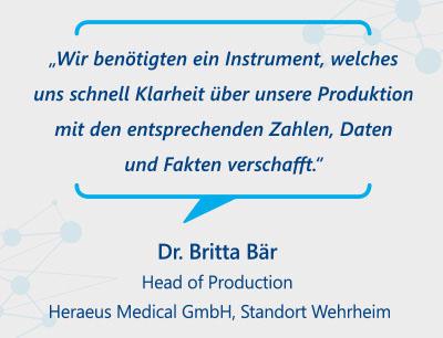 Übersichtliches Datensystem für schnelle Auswertungen bei Heraeus Medical in Wehrheim