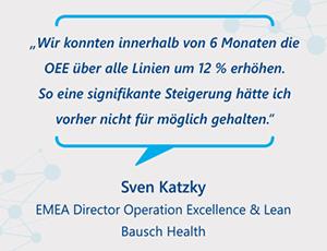 Erfassung der OEE-relevanten Informationen aus den Linien mit der Software FASTEC 4 PRO bei Bausch Health