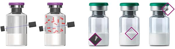 Die neu integrierbare Head-Space-Analyse identifiziert Vials mit zu viel Sauerstoff in ihrem Inneren.