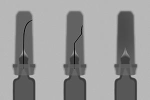Fertigspritzen ohne bzw. mit verbogenen Kanülen lassen sich mit dem HEUFT Syringer finden und rechtzeitig aus dem Verkehr ziehen.