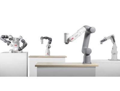 Die neuen Cobot-Familien Gofa und Swifti ergänzen das bisherige Cobot-Angebot von ABB, bestehend aus dem Zweiarm-Roboter Yumi und der einarmigen Yumi-Variante