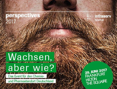 """Am 29. Juni 2017 lädt der Standortbetreiber Infraserv Höchst zur Chemie- und Pharmaveranstaltung """"perspectives 2017"""" ein"""