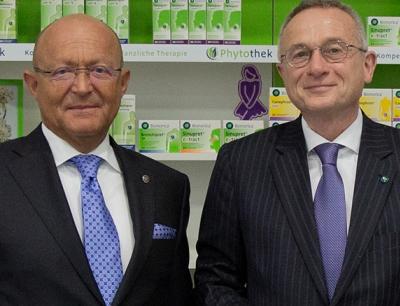 Prof. Dr. Michael A. Popp (links) und Dr. Uwe Baumann bei der Bilanzpressekonferenz 2019