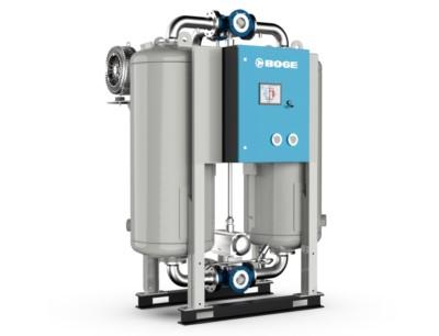 Mit den Adsorptionstrocknern der neuen DAV-2-Baureihe bietet Boge eine optimale Lösung zur Erzeugung trockener Druckluft für sensible Anwendungen