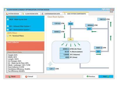 Software zur Planung von Luftfiltersystemen