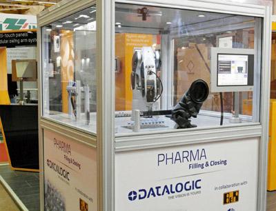 Roboterapplikation für die pharmazeutische Verarbeitung Datalogic