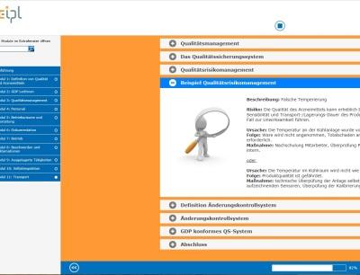 Online-Schulungen im Bereich Pharmalogistik