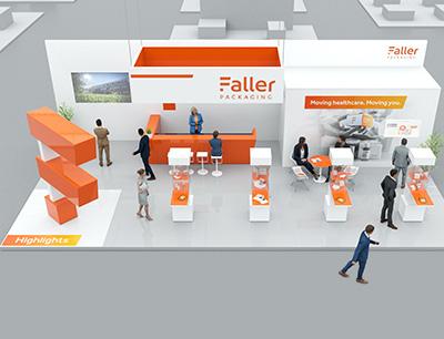 Verpackungsspezialist Faller Packaging hat für seine Kunden einen virtuellen Messestand entwickelt.