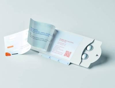 Leporello-Etikett kombiniert mit Pharma Compliance Pack