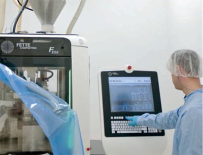 Bei Lofthouse bietet die Tablettenpresse FE55 von Fette Compacting eine effiziente und flexible Lösung für die Produktion von Fisherman's Friend.