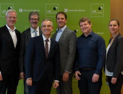Die Sprecher des Fachpressetages Labvolution 2019 in Göttingen
