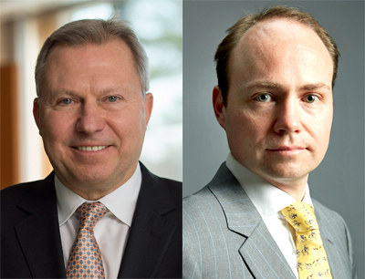 Gary Zieziula und Marc Horn von Merck