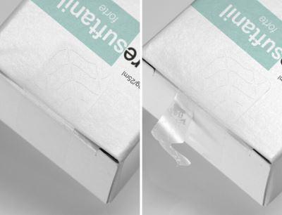 Das Multi-Tear Closure Label mit der Fiber-/Film-Tear Kombination bietet einen doppelten und zuverlässigen Manipulationsschutz