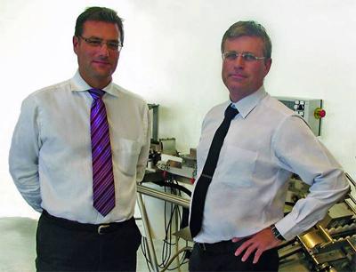 Paulo Alexandre von Romaco und Peter Jocic von Medipac AB