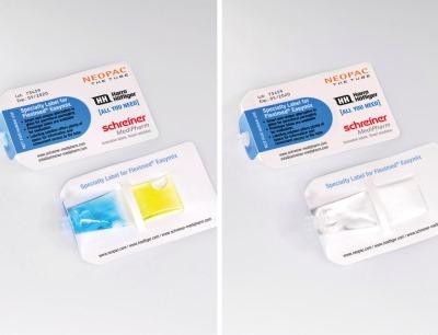 Das neuartige Label umschließt die Tube sicher wie eine Tasche