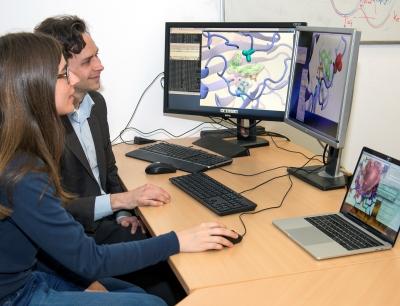 Sophie Mader und Prof. Ville Kaila