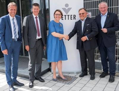 Austausch zwischen Politik und Wirtschaft am Standort Ravensburg Vetter Süd