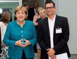 Angela Merkel und Sebastian Braun