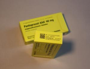 Serialisierte, FMD-konforme Verpackung: Hergestellt von GE Pharmaceuticals im Auftrag von Wörwag