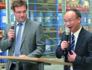 Ansprache von Yue Tang an die Belegschaft von Romaco in Karlsruhe