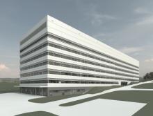 Neues Laborgebäude bei Bayer Entwurfsplanung