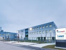 Außenansicht vom Firmengebäude BWT Pharma in Bietigheim-Bissingen