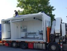 Das mobile Covid-19 Test-Labor von Waldner kommt dahin, wo es gebraucht wird