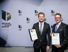 Preisübergabe: Olaf J. Müller gemeinsam mit Volker Reinsch