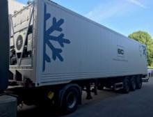 GDP-qualifizierter Container auf einem Anhänger