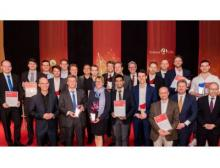 Konzeptprämierung 2018 in der Hessischen Landesvertretung in Berlin, alle Gewinnerteams