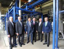 Eröffnung der Kohlendioxid-Produktion in Frankfurt-Höchst