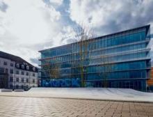 Innovation Center auf dem Gelände der Konzernzentrale in Darmstadt, Deutschland