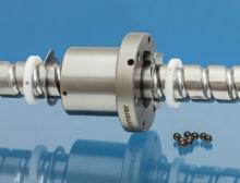 Niro-Kugelgewindetrieb von Kammerer mit Keramikkugeln, einem Abstreifsystem aus Kunststoff und zusätzlichem Dichtblech zur optimalen Abdichtung des Systems