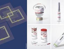 Die neuen, smarten Pharma-Labels von Schreiner Medipharm und Pragmatic eignen sich z.B. für Primärverpackungen und Devices