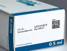 Pharmaverpackung mit Data-Matrix Code