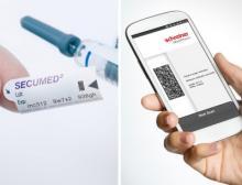 Das Kopierschutzmuster Bit-Secure ist ein gedrucktes digitales Sicherheitsmerkmal