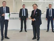Übergabe des Axia Best Managed Companies Awards in Ravensburg
