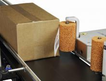 Das 9550 Etikettierungssystem für Übereck-Etikettierung hilft die Produktion zu steigern