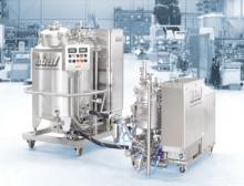Mobile Ystral Prozessanlage zur Herstellung von Tablettenlack